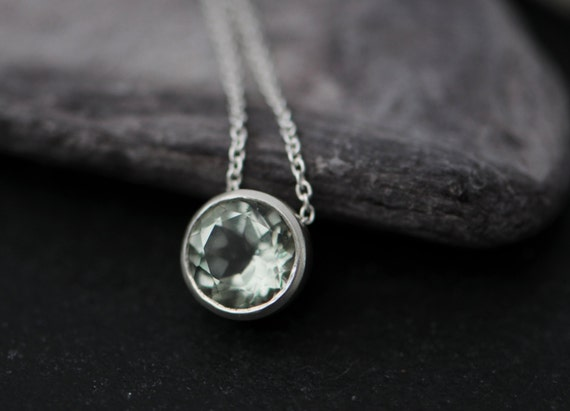 Green amethyst pendant necklace green gemstone pendant aloadofball Image collections
