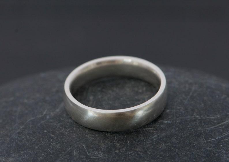 Mans Silver Wedding Band 7mm Wide Silver Wedding Ring