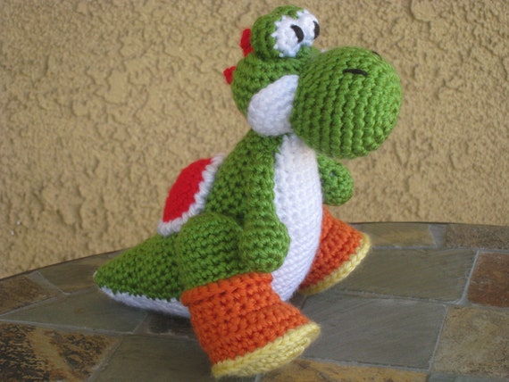 Crochet Pattern Yoshi Plush Amigurumi Figurine Doll Stuffed Etsy