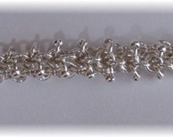 Chain Maille Beaded Fluffy Bracelet