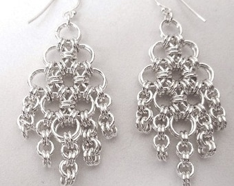 Chain Maille On the Fringe Earrings