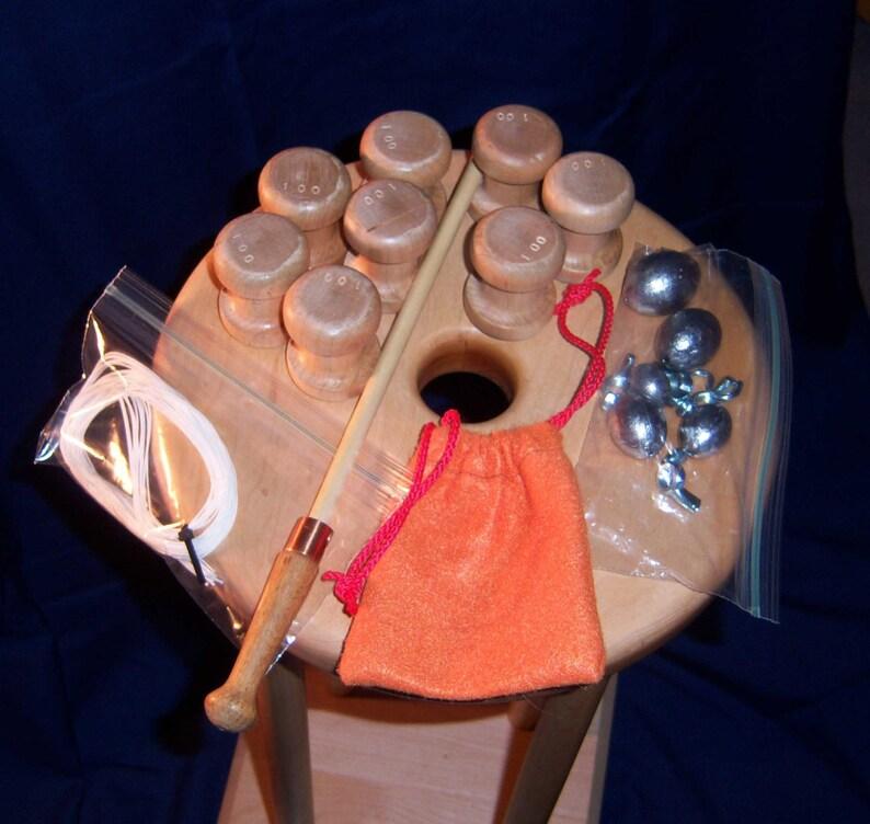 10 Table /& 16 Bobbins etc Kumihimo Set with Both  16 and  24 leg sets