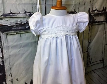 White Baptism Dress for Adults