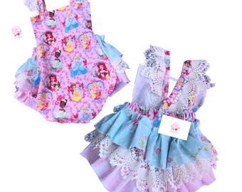 Baby girl romper, pink 1st Birthday romper ,