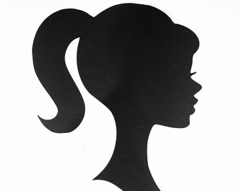 photograph regarding Free Printable Barbie Silhouette titled Barbie silhouette Etsy
