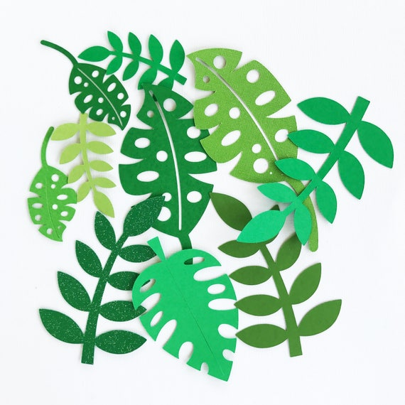 Tropical Leafs Leaf Cut Outs Tropical Party Hawaiian Party Etsy