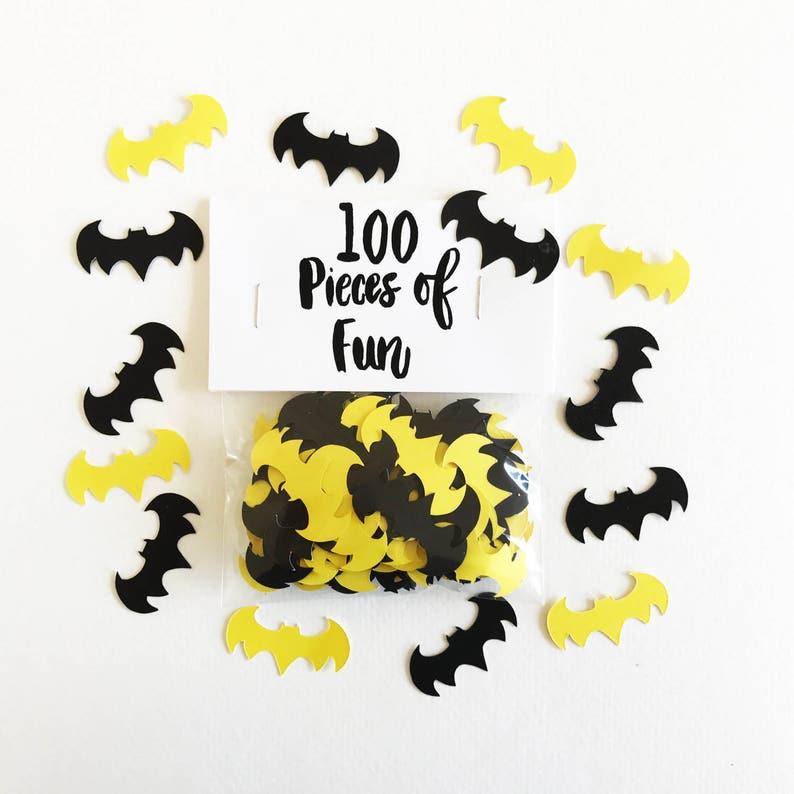 Batman Confetti Batman Batman Party Batman Birthday Etsy