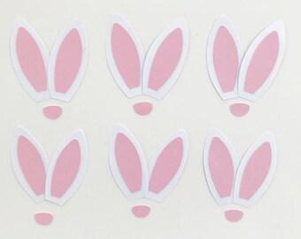 Bunny Ears, Ears, Rabbit Ears, Pink and White bunny ears, Easter bunny, bunny face, Easter bunny, bunny crafts, Easter crafts, Pink ears