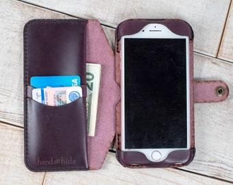 iPhone 7 Plus Leather Flex Wallet Case, iPhone 7 Plus case, iPhone 7 Plus wallet, leather phone case, leather iphone case, phone wallet