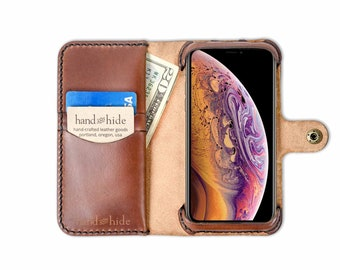Cover in Pelle Slim per iPhone X / XS - LeatherFlex
