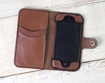 on sale 99c97 06fbf IPhone 5 5s 5c Wallet Phone Case leather iphone case | Etsy