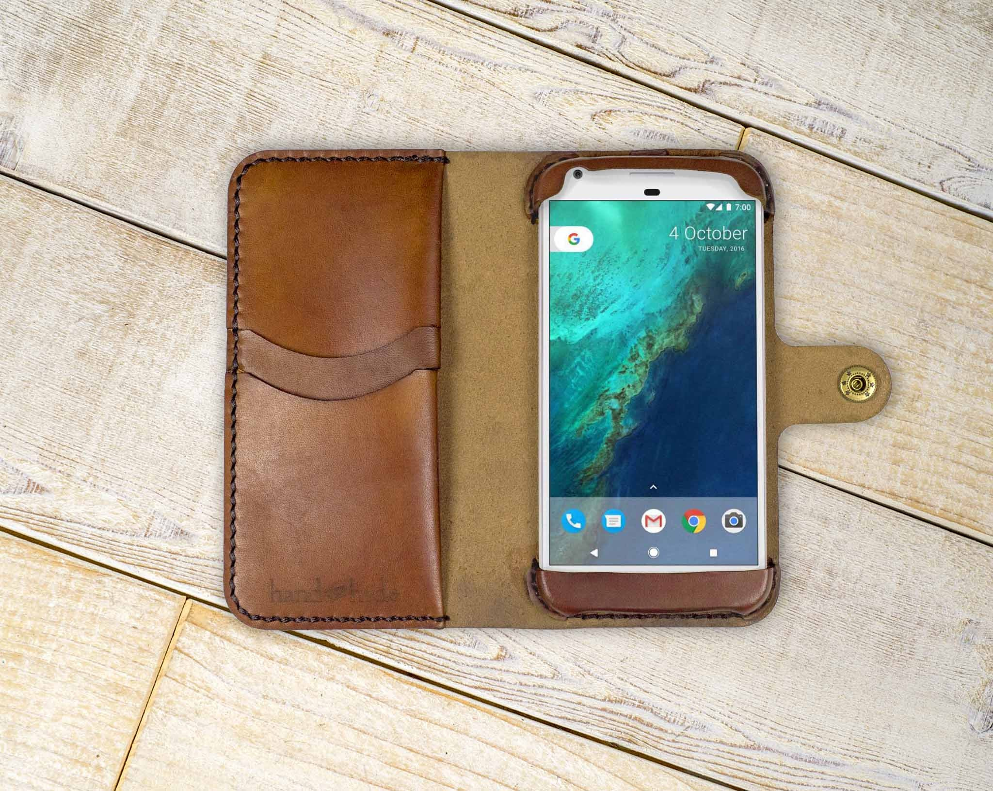 competitive price c24da f8740 Google Pixel Leather Wallet Case, Google pixel wallet, pixel case, google  pixel wristlet, pixel wallet, custom pixel case