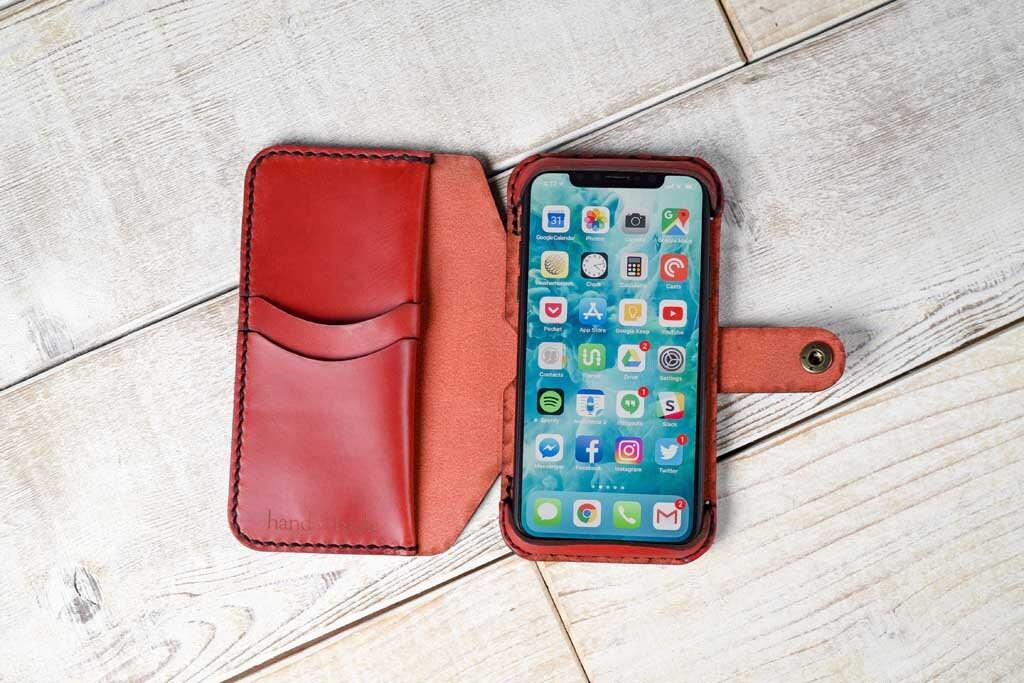 newest 40cc8 b1f87 iPhone Xr Leather Flex Wallet Phone Case, iPhone ten r case, iPhone 10 r  wallet, leather phone case, iphone Xr wallet