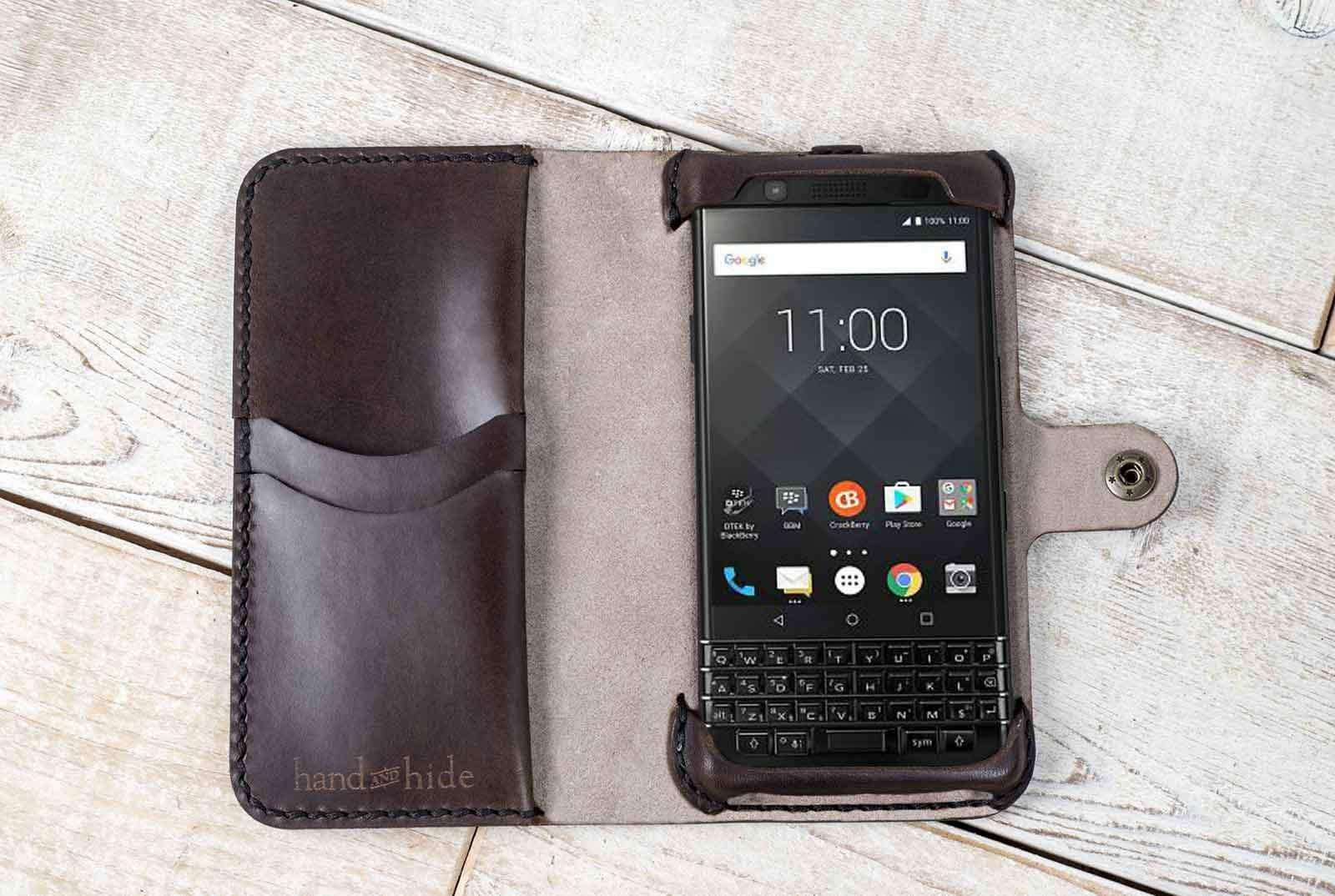 on sale 4bdce 3e11b BlackBerry KEYone Phone Wallet Case, leather phone case, BlackBerry KEYone  case, handmade keyone case, custom phone case