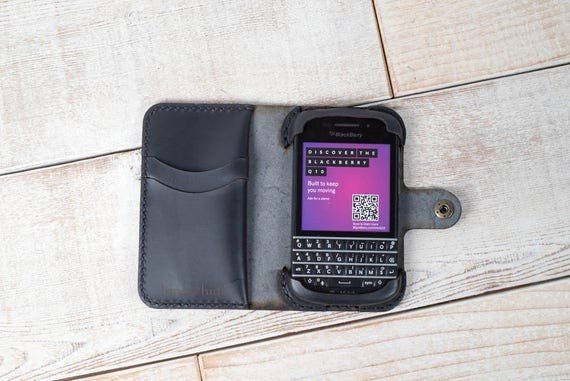 pretty nice b49f7 5776d BlackBerry Q10 Leather Phone Wallet Case, BlackBerry q10 case, leather  phone case, custom phone case, handmade leather phone wallet case