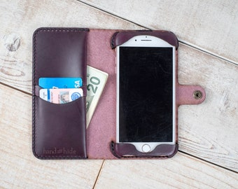 iPhone 7 Plus Leather Wallet Case, iPhone 7 Plus Case, Leather iPhone case, iPhone 7 Plus wallet, leather phone case, leather phone wallet