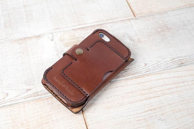 size 40 c28f0 cec6d Leather Double Phone Case, Dual Phone Case, Leather iPhone case, holds two  phones, work and personal phone case, 2 phone phone case
