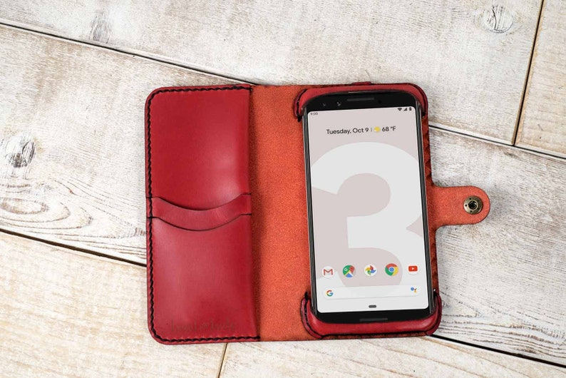 best service 140a0 ac995 Google Pixel 3 Leather Wallet Case, Google pixel 3 wallet, pixel 3 case,  google pixel 3 wristlet, pixel 3 wallet, custom pixel 3 case