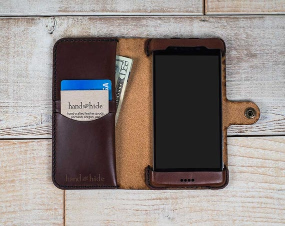 Leather Phone Case >> Blackberry Leap Leather Phone Wallet Case Leather Phone Case Etsy