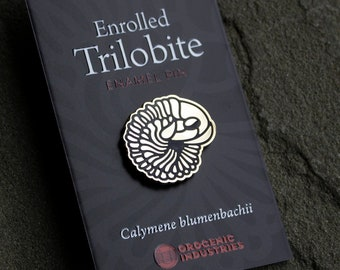 Trilobite Enamel Pin | Science Pin | Calymene Fossil Gift | Gift for Introvert | Paleontology Hard Enamel Pin
