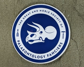 Triceratops Paleontology Fanciers sticker | Water bottle sticker | Paleontology sticker | Science geek gift | Fossil Laptop Sticker