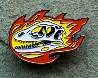 Dinosaur Enamel Pin | Deinonychus Skull | Velociraptor | Paleontology lapel pin