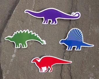 Colorful Dinosaur Stickers | Prehistoric Decal Set | Dinosaur Laptop Sticker | Science Gift