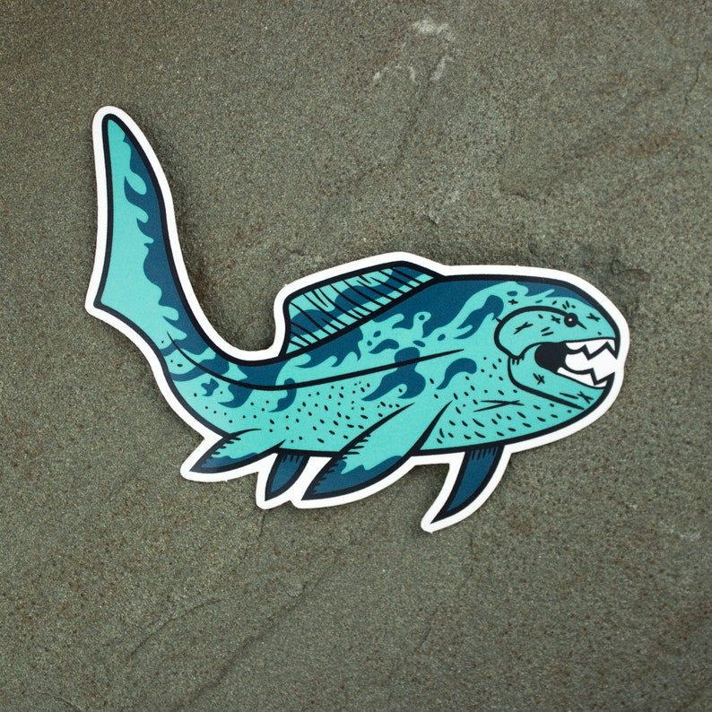 Dunkleosteus sticker  Paleontology Sticker  Prehistoric fish image 0