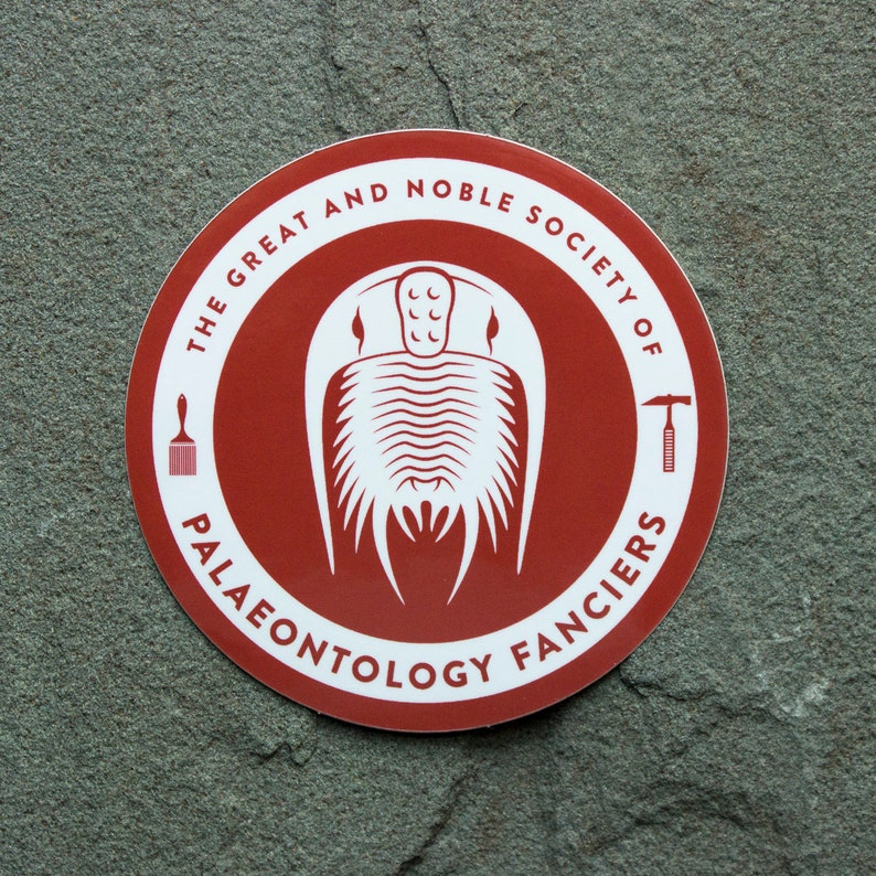Trilobite sticker  Water bottle sticker  Paleontology image 0