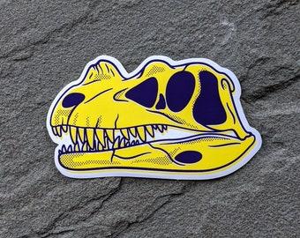 Ceratosaurus Dinosaur Skull Sticker   Fossil sticker   Science Geek Gift   Vinyl Dinosaur Decal