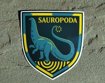 Brontosaurus sticker | Paleontology Sticker | Sauropod decal | Long-neck dinosaur family crest | Laptop Sticker | Water Bottle Sticker |