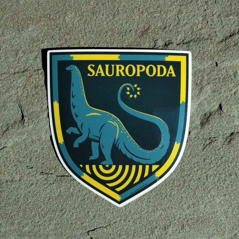 Brontosaurus sticker  Paleontology Sticker  Sauropod decal  image 0