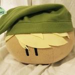 Large Zelda Link cosplaying Plush - Mochi Dango Plushie - Stuffed Animal Handmade Fiber or Fiber and microbead mix