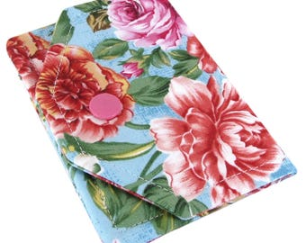 Business card wallet etsy custom business card holder for women cute business card case fabric business card holder womens business card wallet flower floral colourmoves