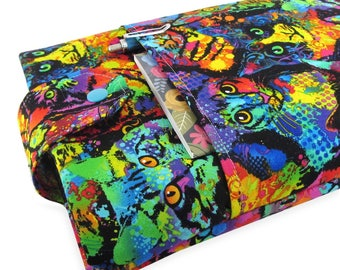 a629847e9c Watercolor Cat Book Sleeve - Front Pocket