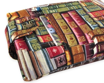 Antique Book Fabric Book Sleeve - Front Pocket, Two Sizes: Paperback & Hardback - A Great Book Cover For Yourself Or Book Lover Gift!