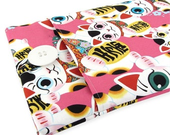 Custom Fitted Laptop Sleeve - Can Be Made For Any Laptop 15.6, 13 Inch, 13.3, 12 Inch, Maneki Neko