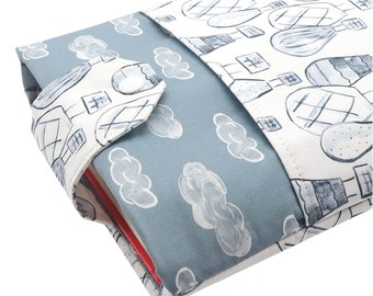 Hot Air Balloon Fabric Book Sleeve - Front Pocket, Two Sizes: Paperback & Hardback - A Great Book Cover For Yourself Or Book Lover Gift!