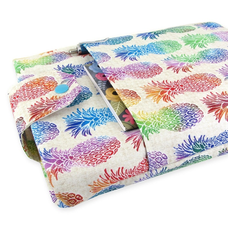 Pineapple Book Sleeve  Front Pocket Two Sizes: Paperback & image 0