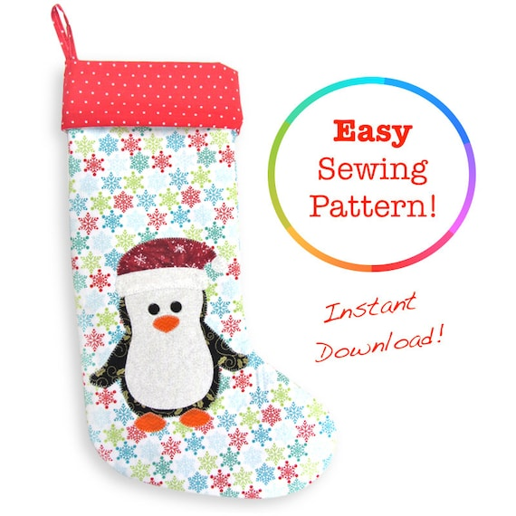 Penguin Christmas Stocking Pattern Christmas Sewing Patterns