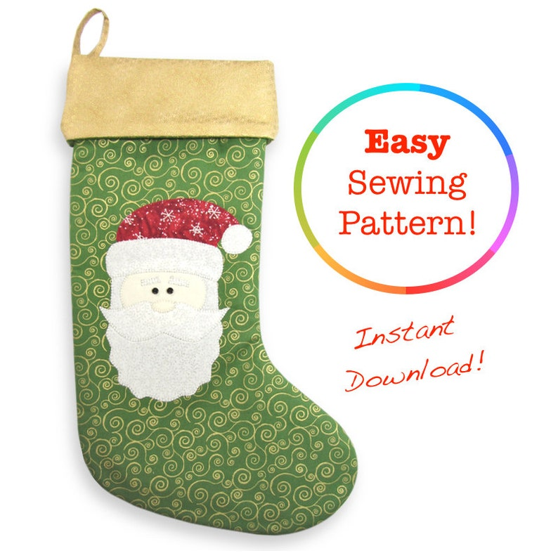 7d05c3e71d5 Christmas Stocking Pattern Christmas Sewing Patterns Santa