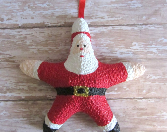 Beach Christmas Ornament - Beach Decor Starfish Christmas Ornament - Santa REAL Starfish Ornament - Nautical Ornament