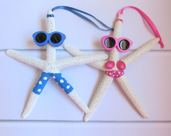 Beach Christmas Ornament - Beach Decor Starfish Christmas Ornament - REAL Starfish Ornament - Nautical Ornament
