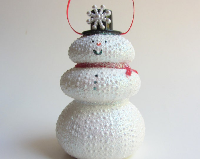 Snowman Holiday Ornament - Sea Urchin Beach Christmas Ornament