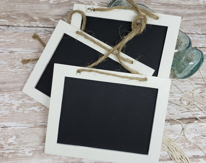 Mini Chalk Boards with Twine.