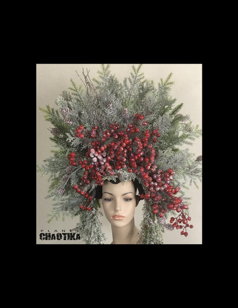 Queen Frosted Winter Christmas Headdress