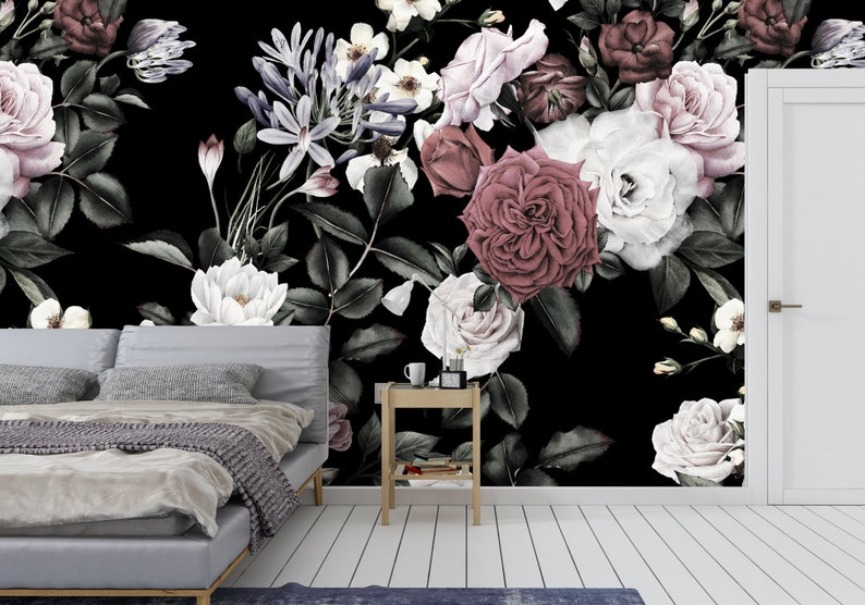BRUSHED BOTANICAL Self- Adhesive Fabric Removable Wallpaper Peel and Stick Repositionable and Only the Highest Quality