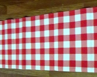 Quick View. Upcycled , Red Gingham Table Runner ...