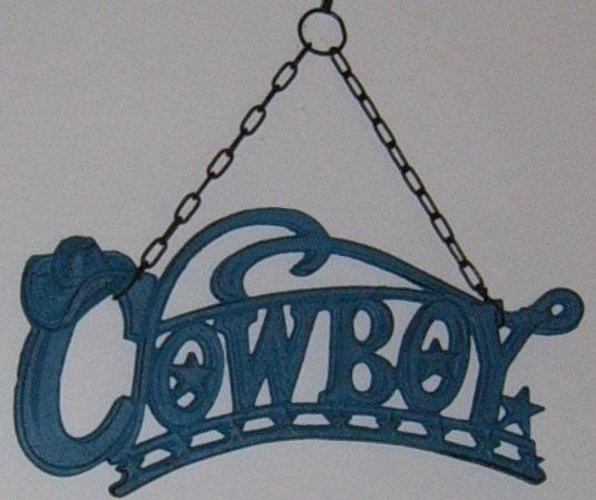 Western Decor On Sale: Cast Iron Cowboy Wall Hanging 20% OFF SALE Western Decor