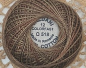 Valdani Perle Cotton thread Size 12 Dusty Leaves 0518 Colorfast Hand Dyed Wool Applique Hand Quilting Wool Applique thread Stitchery